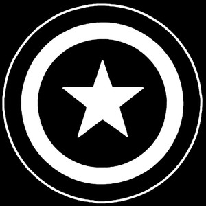 "Captain America Shield Logo 3.5x3.5"" Printed Sticker"