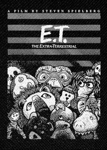 "E.T. The Extra Terrestrial - E.T. in Plushies 4x4"" Printed Patch"