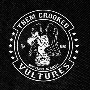 "Them Crooked Vultures - Mind Eraser, No Chaser 4x4"" Printed Patch"