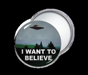 I Want To Believe Round Pocket Mirror