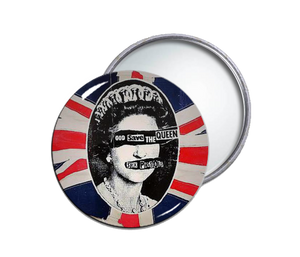 Sex Pistols - God Save The Queen Round Pocket Mirror
