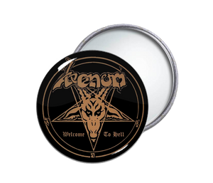 Venom - Welcome To Hell Round Pocket Mirror