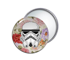 Storm Trooper Round Pocket Mirror