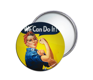 Rosie the Riveter Round Pocket Mirror