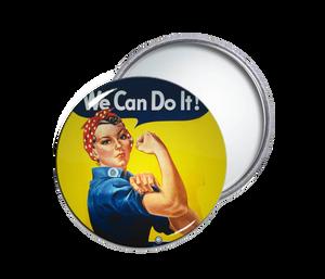 Rosie the Riveter Round Pocket Mirror