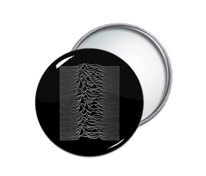 Joy Division - Unknown Pleasures Round Pocket Mirror