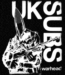 "UK Subs - Warhead 4x6"" Printed Patch"
