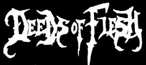 "Deeds of Flesh - Logo 5x3"" Printed Patch"