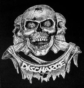"Discharge - Skulls 5x6"" patch Hardcore Punk"