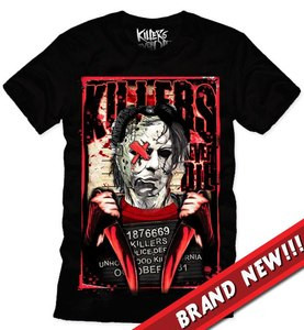 Killers Never Die  Halloween - Myers Mug Shot T-Shirt