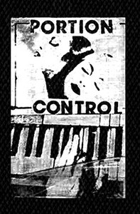 "Portion Control - Keyboard 4x5"" Printed Patch"