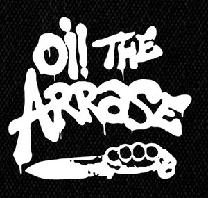 "Oi the Arrase - Knuckle Knife 5x5"" Printed Patch"