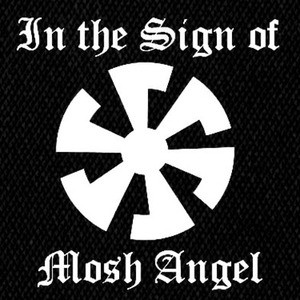 "Mosh Angel - In The Sign of Mosh Angel 5x5"" Printed Patch"