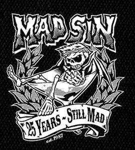 "Mad Sin - Logo 5x6"" Printed Patch"