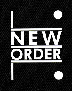"New Order - Logo 4x5"" Printed Patch"