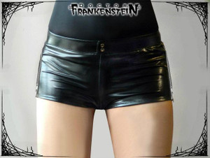 Dr. Frankenstein - Metallic Black Lycra Short