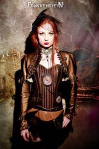Dr. Frankenstein - Steampunk Circus Bronze Bolero Jacket