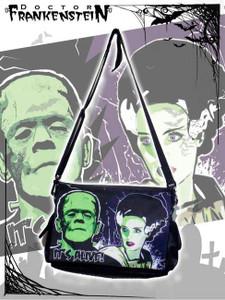 Dr. Frankenstein - Frankenstein and Bride Messenger Bag
