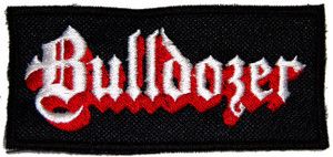 "Bulldozer - Logo 4.5x2.5"" Embroidered Patch"