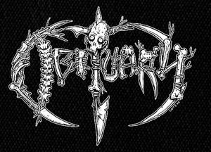 "Obituary - Bones 5x5"" Printed Patch"