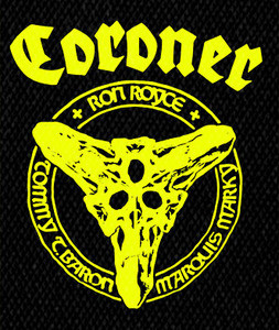 "Coroner - Members 4x5"" Printed Patch"