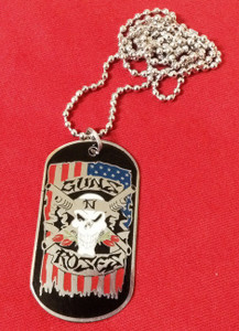 "Guns N Roses 2x1"" Metal Dog Tag"