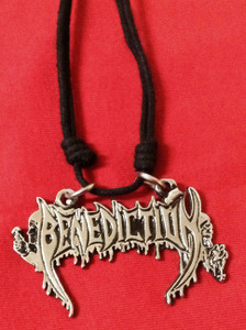"Benediction - Logo 2.5x1"" Metal Pendant"