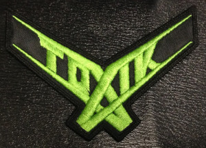 "Toxik - Green Logo 4.5x4"" Embroidered Patch"