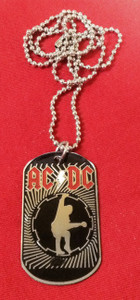 "AC/DC 2x1"" Metal Dog Tag"