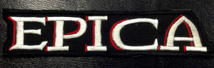 "Epica - White/Red Logo 5x2"" Embroidered Patch"