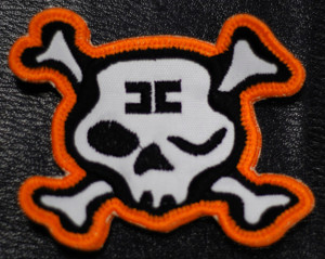 "Combichrist - Skull Shaped Logo 3x2"" Embroidered Patch"