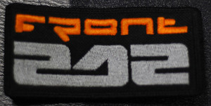 "Front 242 - Orange Logo  4x2"" Embroidered Patch"