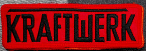 "Kraftwerk - Logo 4x2"" Embroidered Patch"