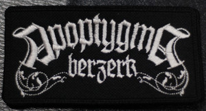 "Apoptygma Berzerk - Whiskey Logo 4x2"" Embroidered Patch"