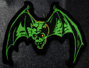 "Overkill - Skull Bat 5x4"" Embroidered Patch"
