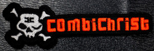 "Combichrist - Skull + Typing 4x1"" Embroidered Patch"