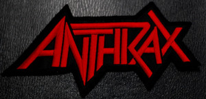 "Anthrax - Logo 5x3"" Embroidered Patch"