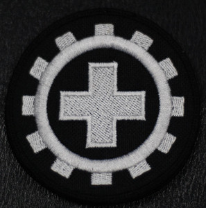 "Laibach - Cross 4x4"" Embroidered Patch"