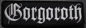 "Gorgoroth - Logo 5x1.5"" Embroidered Patch"