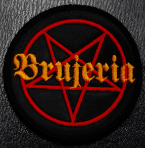 "Brujeria - Pentagram 4x4"" Embroidered Patch"