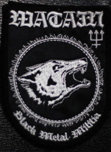 "Watain - Black Metal Militia 3x4.5"" Embroidered Patch"