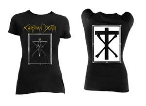 Christian Death - Crucifix Logo Blouse T-Shirt