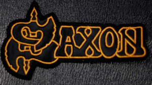 "Saxon - Logo  4x2"" Embroidered Patch"