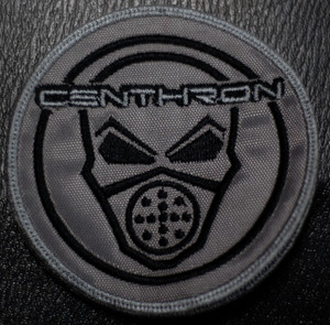 "Centhron - Gasmask 3.5x3.5"" Embroidered Patch"