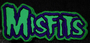 "Misfits - Green Logo 5x2.5"" Embroidered Patch"