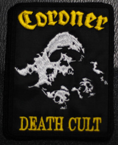 "Coroner - Death Cult 4x5"" Embroidered Patch"