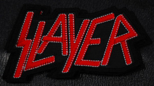 "Slayer - Red Logo 4.5x3"" Embroidered Patch"