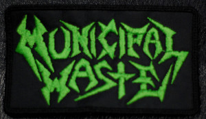 "Municipal Waste - Green Logo 4.5x2.5"" Embroidered Patch"