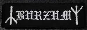"Burzum - Logo 5x1"" Embroidered Patch"