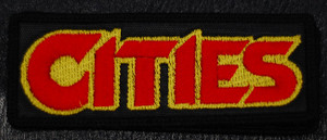 "Cities - Red/Yellow Logo 4.5x1"" Embroidered Patch"